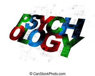 concept:, numérique, psychologie, fond, healthcare