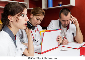 nurse is getting a complaint