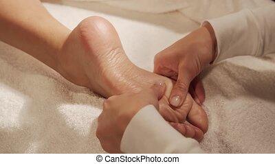 concept., obtient, style de vie, sain, jeune, beau, thérapie, masage, soin, femme, salon., talon, spa, corps
