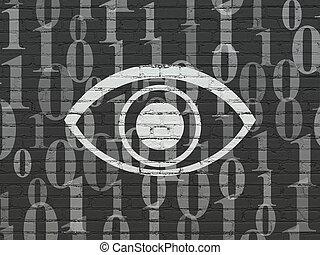 concept:, occhio, fondo, intimità, parete