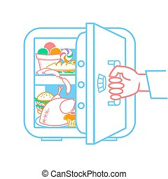 concept of a diet refrigerator - The concept of a diet, in...