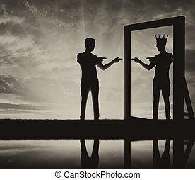 Concept of a narcissistic and egoistic man
