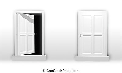 Concept of a open door opportunity - 3d Concept of a open...