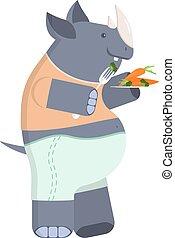 rhinoceros on a diet