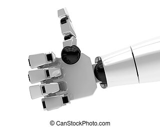 Concept of a robotic mechanical arm. 3D