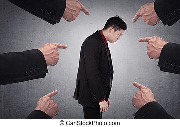 Concept of accused businessman