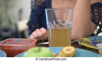 concept of alcoholism, close-up, a glass of beer on the...