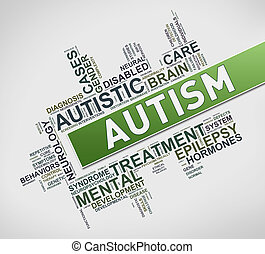Concept of autism wordcloud tag