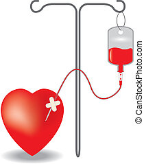 Concept of blood donation. EPS10 vector illustration