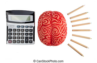 Concept of brain hemispheres between logic and creativity.