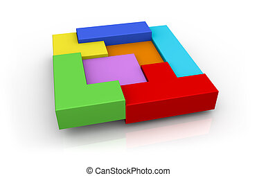 concept of building and problem solving - one interlocking ...