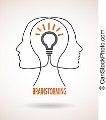 Concept of business idea and brainstorming infographics -...