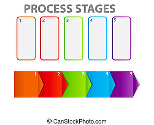 concept of business process improvements chart. Vector illustration