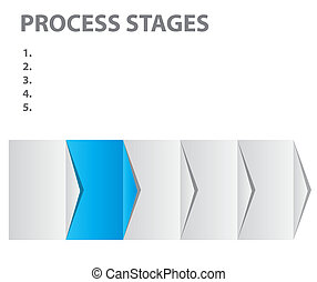 concept of  business process stages. Vector illustration