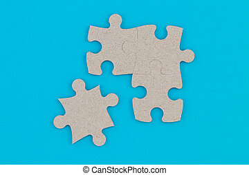 Concept of business teamwork and integration with puzzle