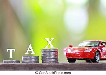 Concept of car tax.