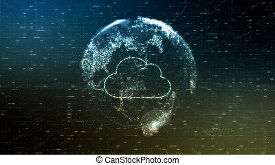 concept of cloud computing and big data (3d render)