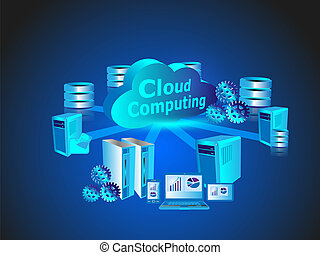 Concept of Cloud Computing network technology