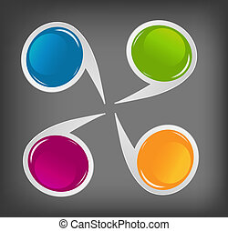 Concept of colorful circular banners for different business ...