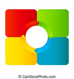 Concept of colorful circular banners with arrows for ...