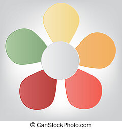 Concept of colorful flower for different business design. Vector illustration