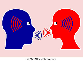 Concept of Communication - Listening closely and mindful ...