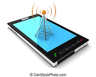 Concept of connecting a mobile phone to the network