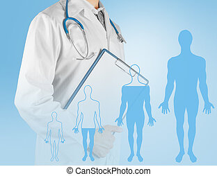 Concept of convalescence of human - Unrecognizable male...