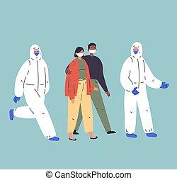 Concept of coronavirus quarantine illustration