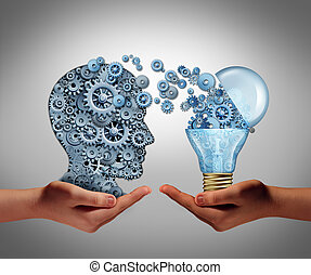 Concept Of Creating Ideas - Concept of creating ideas and...