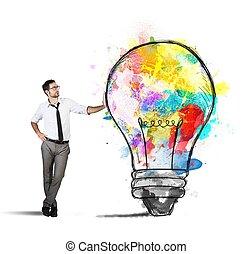 Creative business idea - Concept of Creative business idea ...