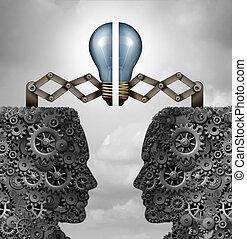 Concept Of Creativity Partnership