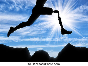 Concept of disability, prosthetic leg