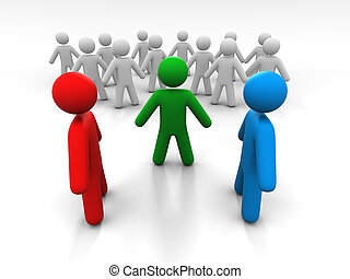 Concept Of Discussion Of Two Persons In The Presence Of A...