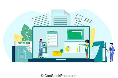 Concept of document management in business company