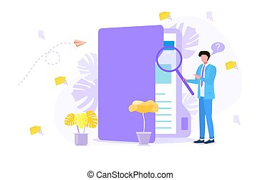 Concept of document search in business company
