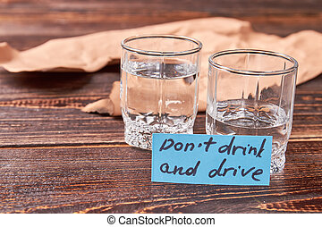 Concept of drunk drivers. Accident as result of alcohol drinking. Do not drink and drive.