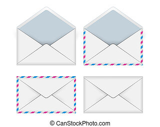 e-mail - Concept of e-mail on a white background