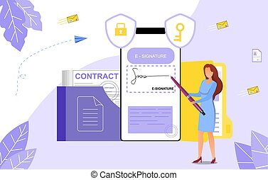 Concept of E-signatures in business documents