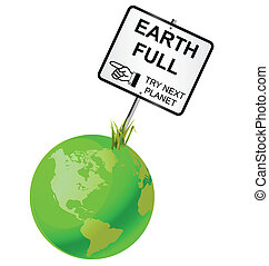 Concept of earth capability to sustain human population
