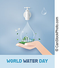 world water day with family