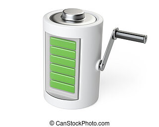 Battery with the handle  for rotation and charge.