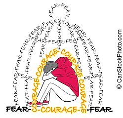concept of emotion of fear courage