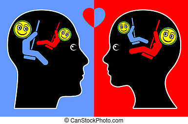 Concept of Empathy - Psychological concept sign of man and ...
