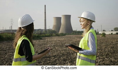 Concept of engineer internship young specialist woman...