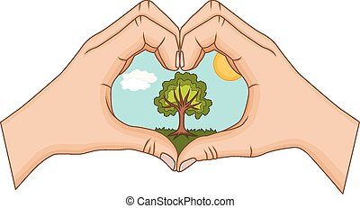 Concept of environmental protection - Vector illustration of...