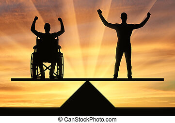 Concept of equal rights of persons with disabilities in society