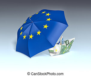 concept of europe and euro currency