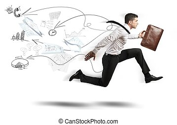 Fast business - Concept of Fast business with running ...