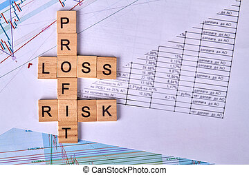 Concept of financial risk in business and investment.
